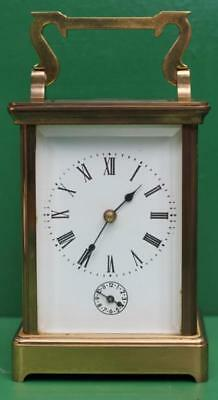 Vintage French 8 Day Grande Striking Alarm Carriage Clock