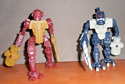 Happy Meal McDonald's LEGO BIONICLES 2 Minifigures Red Blue Rosso & Blu
