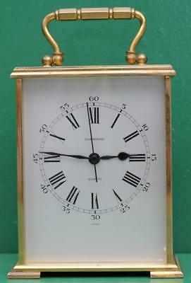 Fine English Quartz Garrard Of London Very Large Carriage Clock