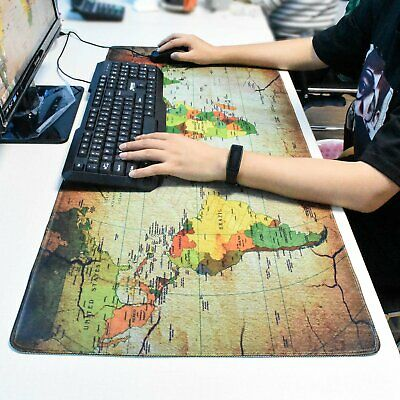 Extra Large XXL Gaming Mouse Pad Desk Mat for PC Laptop 90cm*40cm Earth Map