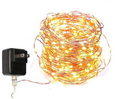 40 Feet Starry String Lights Warm White Color LED's on a Flexible Copper Wire -