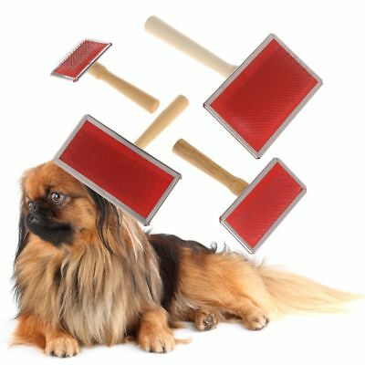 Pet Grooming Comb Shedding Hair Remove Brush Wood Handle Dog Cat Cleaning Supply
