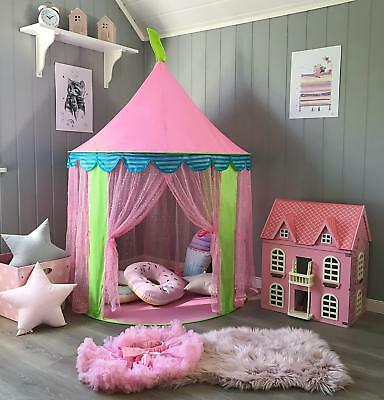 Tiny Land Children Play Tent for Girls Princess Castle Indoor & Outdoor Use,