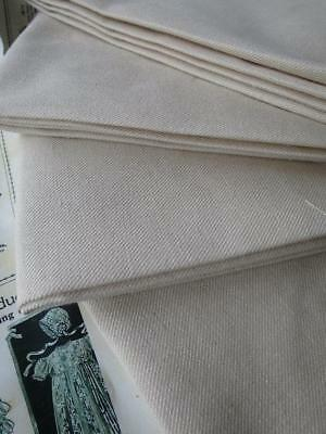 Fat Quarter Hand Woven Scottish Linen Twill Embroidery Fabric- Crewel Work