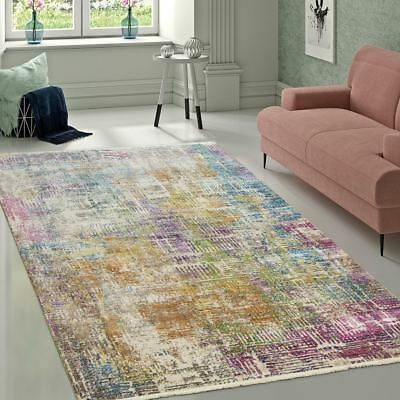 Multi Colour Rug Modern Abstract Pattern Carpet New Mat Room Area Small X Large
