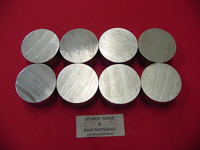 """8 pieces 1-1/2"""" ALUMINUM 6061 ROUND BAR 1.25"""" LONG T6511 Solid Rod Lathe Stock"""