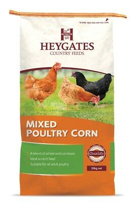 Heygates Country Mixed Poultry Corn Wheat Maize Chicken Feed 20Kg *free P&p*