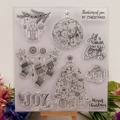 Silicone Clear Stamp Transparent Rubber Stamps DIY Scrapbook Christmas gift S