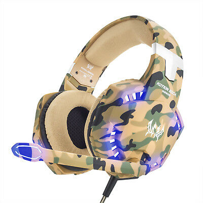 ONIKUM K1 3.5mm  Stereo Bass Gaming Headset MIC LED for Laptop PS4 Xbox One 360