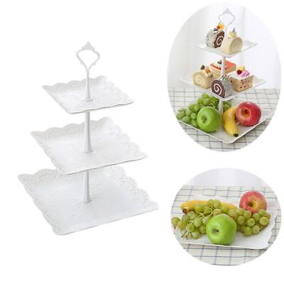 3 Tiers Cake Rack Display Home Party Birthday Celebration Fruit Display Stand