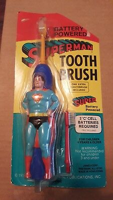 Vintage 1976 Superman Battery-Powered Toothbrush Never Opened