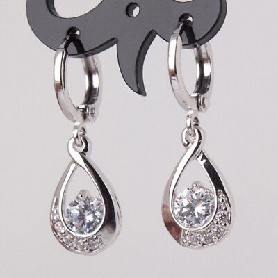 Women Bling Crystal Rhinestone Long Dangle Drop Earrings Ear Stud Jewelry Z