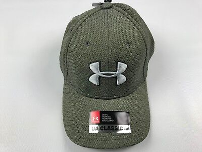 2623297bbb3 Under Armour Men s Blitzing Hat Size M L Green Gray Cap Heathered 1283151  New