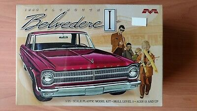 Moebius 1965 Plymouth Belvedere 1/25 scale Plastic Model Kit, sealed new, #1218