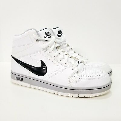 8c6afe4941b28 NIKE PRESTIGE IV HIGH MENS BASKETBALL SHOES WHITE BLACK Sneakers Size 12  Laces