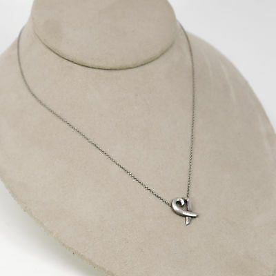 Tiffany & Co. Paloma Picasso Sterling Silver 925 Loving Heart Pendant