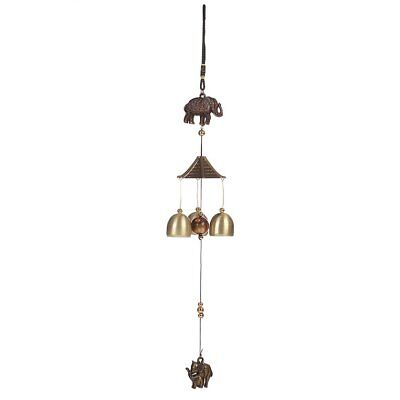 Elephant Wind Chimes Bell Funtuire Ornaments Pendant Home Decoration DF UK