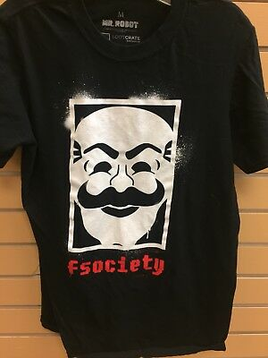 FSociety Mr Robot Elliot Alderson Hacker TV Show Men/'s Black T-Shirt Size S-3XL