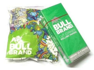 2 x BULL BRAND KING SIZE PRE-ROLLED 6mm TIP ROACHES ROACH TIPS wtih 25 x PAPERS