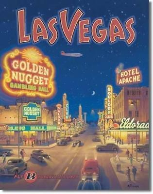 "ERICKSON ""LAS VEGAS"" BONANZA AIR TIN SIGN PRINT POSTER Metal"