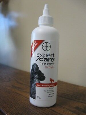 New! Bayer Expert Care Cleansing Ear Rinse for Dogs  8 oz
