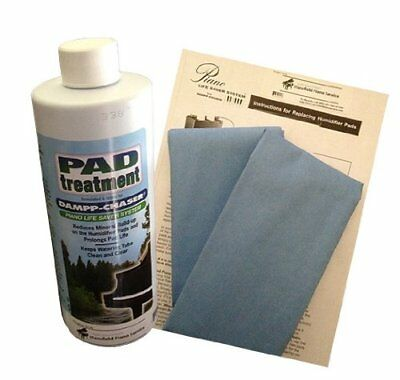 Dampp Chaser Piano Humidifier Pad Treatment 7.5 oz Bottle with BONUS Two Pads