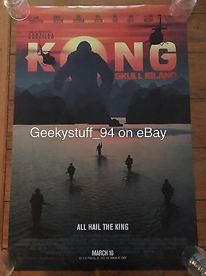 Kong Skull Island DS Theatrical Movie Poster 27x40