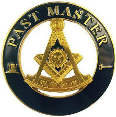 Mason Masonic Past Master Cut Out Car Emblem-New!