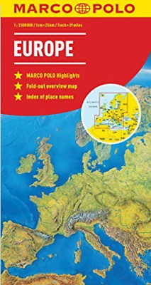 Europe Marco Polo Map Book New