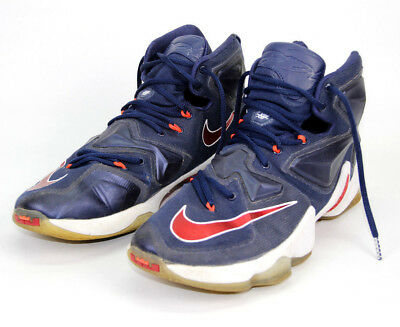pretty nice 20388 cff6d 2015 Nike Air Max LeBron James XIII 13 Mens Blue Red Shoes Sneakers Size  10.5