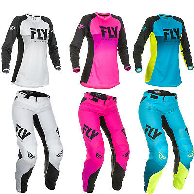 Fly Racing Women's Lite Motorcycle MX Riding Jersey and Pant Racewear Combo