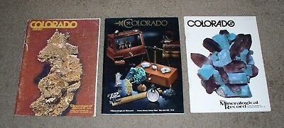 Three Issues of the Mineralogical Record on Colorado 1976; 1979 & 1985