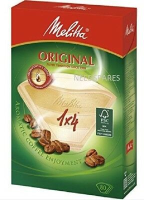 Melitta, 80 Coffee Filters, Size 1x4, For Filter Coffee Makers, Original, Brown
