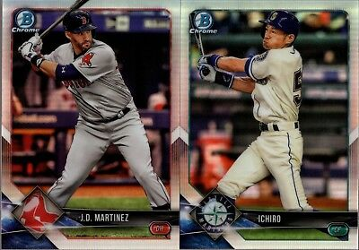 2018 Bowman Chrome Veteran & Rookie Rc Refractor #/499 Singles - You Pick 4 Set