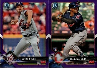 2018 Bowman Chrome Veteran & Rookie Rc Purple Refractor #/250 Singles - U Pick