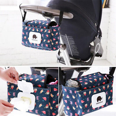 1X Universal Baby Trolley Storage Bag Stroller Cup Carriage Pram Buggy Organizer