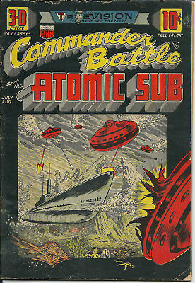 Commander Battle and the Atomic Sub #1 Good G ACG 1954