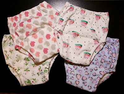 USA Ship! New Cloth Potty Training Pants 4 pack Pink Girls Toddler 3T underwear