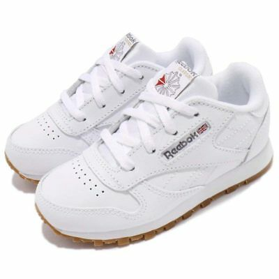 b3e7469cfcd REEBOK CL CLASSIC V69626 White Gum Leather Baby Toddler Shoes ...