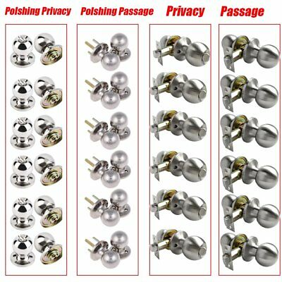 Lot 2~20Satin/Polish Home Door Knob Lock Handle Lock Set Entry Privacy Passage H