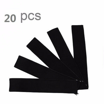 2 x 10pcs 20''Cable Management Organizer Neoprene Cable Cord Wire Cover Hider
