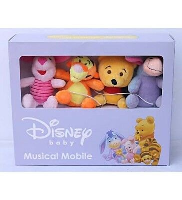 Winnie The Pooh Disney Baby Wind Up Crib Musical Cot Mobile Musical Mobile 0 M+