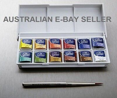 * Winsor & Newton Cotman WaterColour Sketchers 12 Pocket Box Set Watercolor