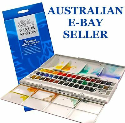 * Winsor & Newton Cotman Watercolour Studio Set (45 Half Pans) Watercolor***