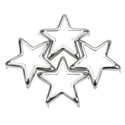 50 X Metal 15mm Hollow Star Design Studs Spots Spikes Craft Decor DIY Rock Punk