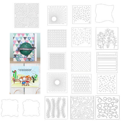 Background Plastic Stencil Spray Layering Album Photo Handcrafts Drawing Sheet
