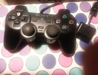 Sony Playstation 2 PS2 Dual Shock Controller/Black[SCPH-10010] + 8MB Memory Card