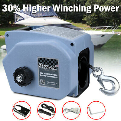 ELECTRIC BOAT WINCH Trailer Winch for Boats up to 6000 lbs Reversible 12V  4000lb