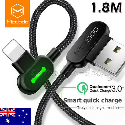 MCDODO 90 Degree Right Angle USB Charger lightning Cable For Apple iPhone iPad