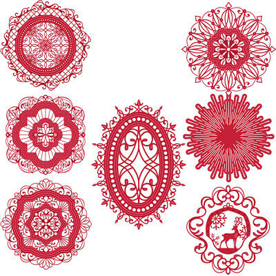 Circle Lace Frame Cutting Dies Stencil Templates Paper Card Scrapbook Album DIY